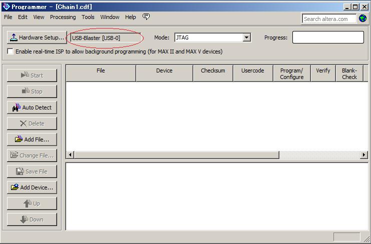 Q2プログラマ起動時の画面